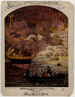 Pity the Homeless, or Burnt Out; James R. Murray, Sheet Music, 1871 (ichi-13455)