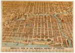 Bird's Eye View of the Business District of Chicago; Lithograph, 1898 (ichi-14892)