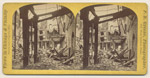 Post Office and Custom House after the Fire; P. B. Greene, Stereograph, 1871 (ichi-64153)