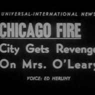 """City Gets Revenge on Mrs. O'Leary,"" Universal-International News, 1955; Courtesy National Archives and Records Administration"