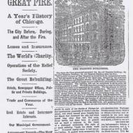 Anniversary of the Great Fire; from the Chicago Daily Tribune, October 9, 1872