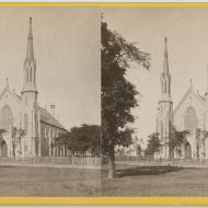 Unity Church before the Fire; J. Carbutt, Stereograph, ca. 1871 (ichi-00351)