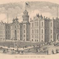 The Court-House before the Fire; from A. T. Andreas, History of Chicago, vol. 2, 1885 (ichi-00442)