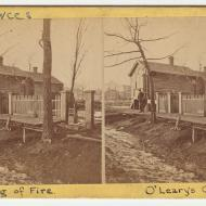 The Cottage of Patrick and Catherine O'Leary; J. H. Abbott, Stereograph, 1871 (ichi-02741)
