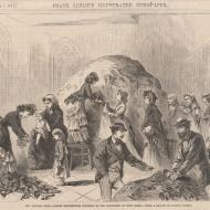 The Chicago Fire--Ladies Distributing Clothing to Sufferers of Both Sexes; Based on a Sketch by Joseph Becker, from Frank Leslie's Illustrated Newspaper, November 4, 1871 (ichi-02894)