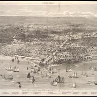 Bird's-eye View of Chicago as It Was before the Great Fire, 1871 (ichi-05671)