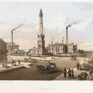 Chicago Water Works; Louis Kurz for Jevne & Almini, Lithograph, 1866-67 (ichi-06859)