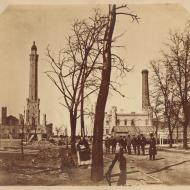 Chicago Waterworks after the Fire; from a Stereograph, 1871 (ichi-13918)