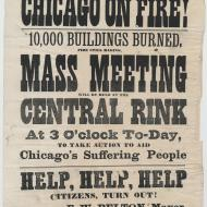 Chicago on Fire!; Broadside, October 9, 1871 (ICHi-20590)
