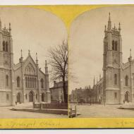 St. James Episcopal Church before the Fire; P. B. Greene, Stereograph, 1871 (ichi-22327)