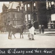 Mrs. O'Leary and Her Cow; Charles R. Clark, Photograph, 1911 (ichi-26580)