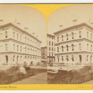 The Post Office and Custom House before the Fire; P. B. Greene, Stereograph, 1871