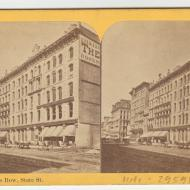 View of Booksellers' Row before the Fire; Lovejoy & Foster, Stereograph, ca. 1871 (ichi-29598)
