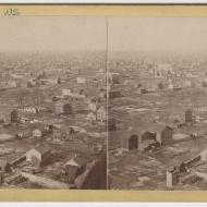 View from the Water Tower after the Fire; J. H. Abbott, Stereograph, ca. 1871 (ichi-34525)
