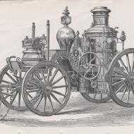 Steam Fire Engine Fred Gund No. 14; from Report of the Board of Police, in the Fire Department, 1871-72 (ichi-51522)