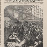 The Terrified Populace in Front of the Briggs House; from Frank Leslie's Illustrated Newspaper, October 28, 1871 (ichi-63136)