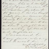 The Case of Lawrence Saddler, 3; Letter from T. F. Phillips, January 29, 1872 (ichi-63781)