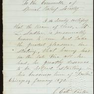 The Case of Lawrence Saddler, 2; Letter from Reverend J. Cate, January 29, 1872 (ichi-63782)