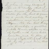 The Case of Lawrence Saddler, 4; Letter from Alex Bengley, January 30, 1872 (ichi-63783)