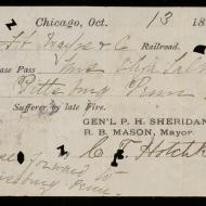 Railroad Pass for Eliza Talbot, October 13, 1871 (ichi-63794)