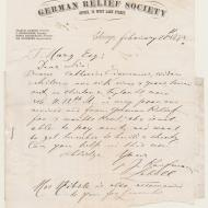 Charity at Home; German Relief Society Letter, February 22, 1872 (ichi-63800)