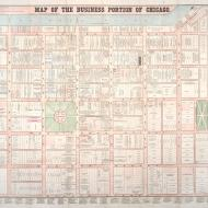 Map of the Business Portion of Chicago; E. Whitefield for Rufus Blanchard, 1862 (ichi-64073)