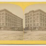 The Lind Block after the Fire; P. B. Greene, Stereograph, 1871 (ichi-64152)