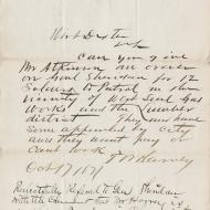 Special Request, 1; Letter from T. W. Harvey, Endorsed by Wirt Dexter, October 17, 1871 (ichi-64371)