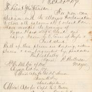 The Mayor Shuts Two Saloons; Letter of Roswell Mason to Lieutenant-General Sheridan, October 20, 1871 (ichi-64372)
