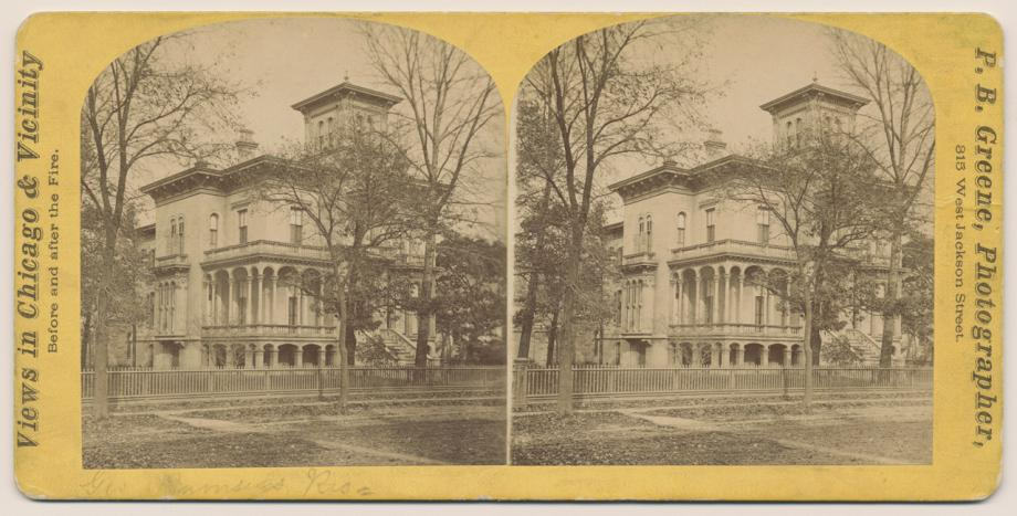 George F Rumsey House Before The Fire P B Greene Stereograph