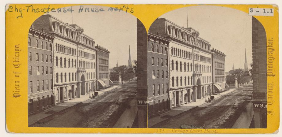 View Of Crosby S Opera House Before The Fire Stereograph Ca