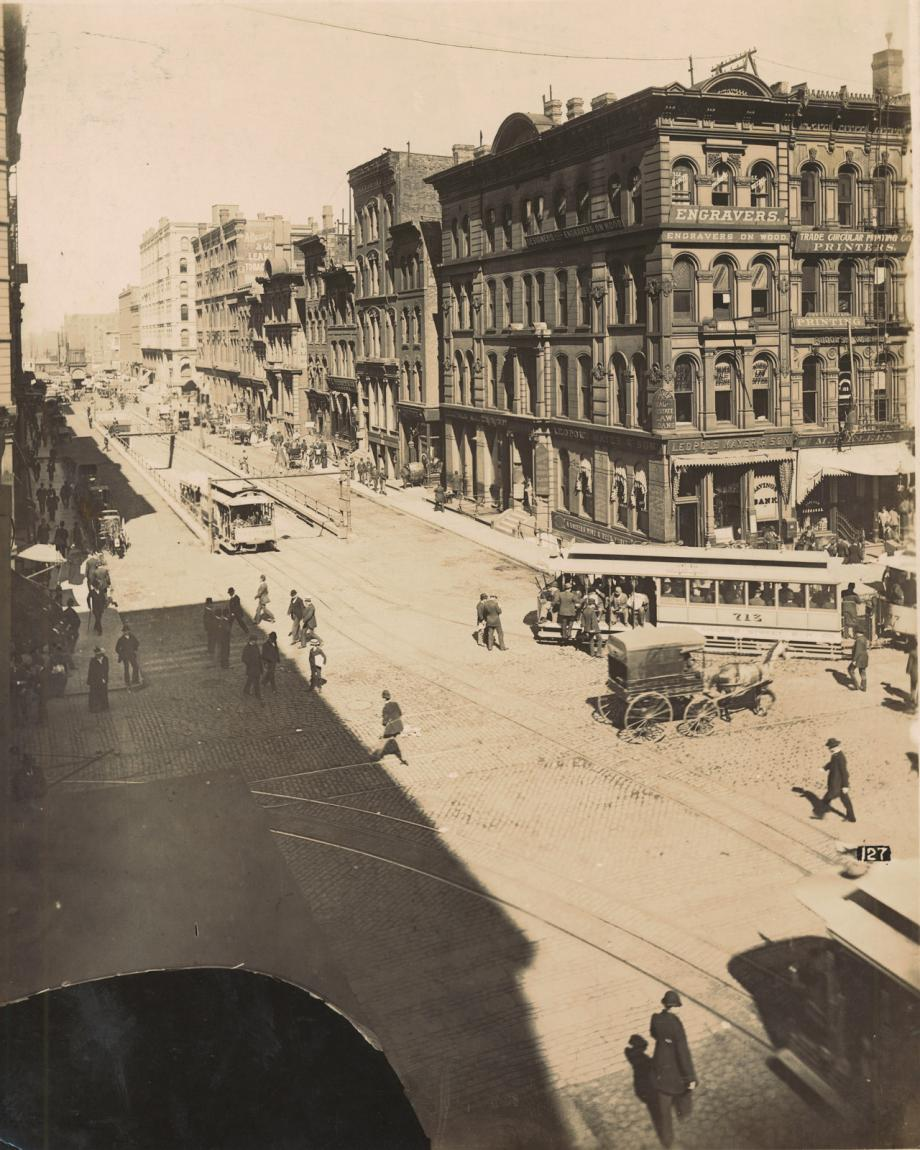 Lasalle street north of randolph street photograph 1890 for 1800 salon chicago