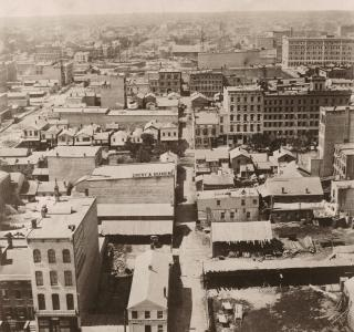 View from Court House Cupola, West; Alexander Hesler, Photograph, 1858 (ich-05726)