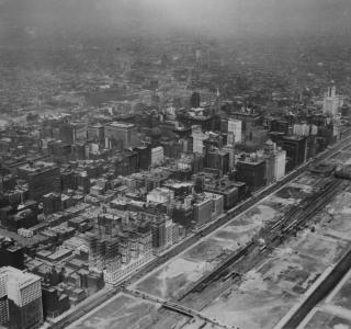 Aerial View of Central Downtown Chicago; Photograph, 1926 (ichi-05798)