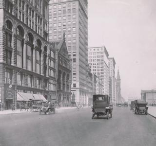 Michigan Avenue, North from Congress Street; Kaufman & Fabry, Photograph, 1911 (ichi-14407)