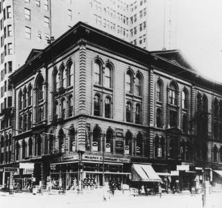 Post-Fire First Methodist Church Building; Photograph, ca. 1900 (ichi-19985)