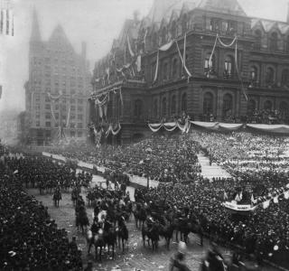 World's Columbian Exposition Dedication Parade; J. W. Taylor, Photograph, 1892 (ichi-23352)