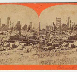 The Palmer House after the Fire; P. B. Greene, Stereograph, 1871 (ichi-26749)