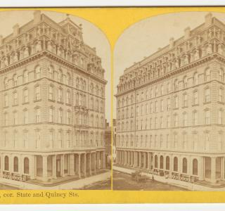 The Palmer House before the Fire; P. B. Greene, Stereograph, 1871 (ichi-39580)