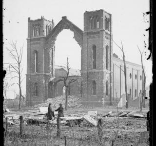 View of Trinity Church after Fire of 1871; Jex Bardwell, Photograph, 1871 (ichi-63815)