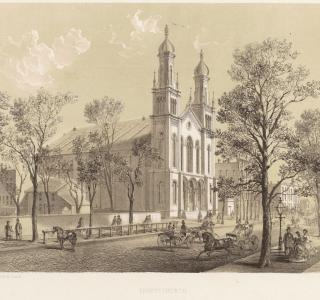 Trinity Church; Louis Kurz for Jevne & Almini, Lithograph, 1866-67 (ichi-64271)