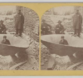View of the Courthouse Bell after the Fire; Shaw Photographer, Stereograph, 1871 (ichi-64280)