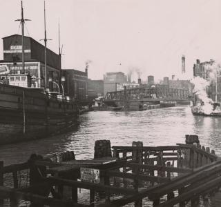 Rush Street Bridge; Photograph, ca. 1894 (ichi-64362)