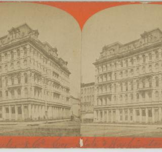 Field & Leiter Store before the Fire; Stereograph, P. B. Greene, ca. 1871 (ichi-64398)