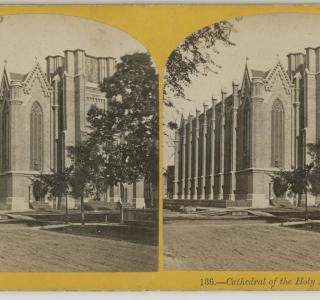 Cathedral of the Holy Name; J. Carbutt, Stereograph, ca. 1871 (ichi-64411)