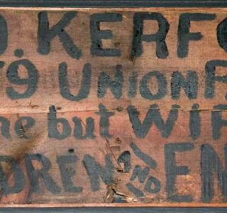All Gone But Wife, Children, and Energy; Hand-Painted Wooden Sign (ichi-64473)
